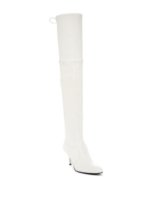 Stuart Weitzman - White Tiemodel Over The Knee Stretch Boot - Lyst