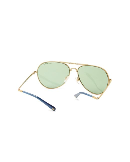 7cf5e13c44824 ... Tory Burch - Metallic 58mm Pilot Sunglasses - Lyst ...