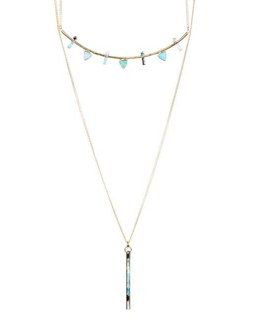Botkier - Metallic Crystal Detail Hi-lo Necklace - Lyst