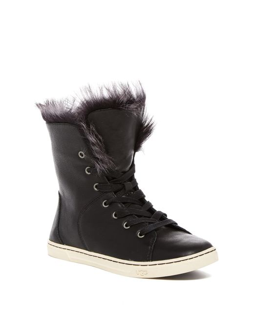 Ugg - Black Croft Fur Lined Trainers - Lyst