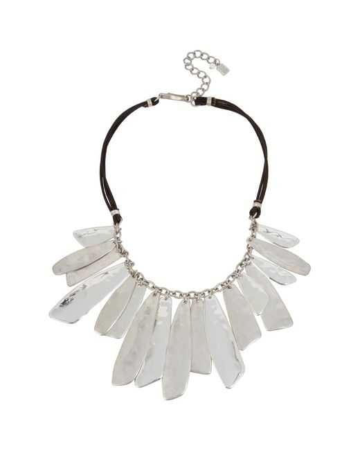 Robert Lee Morris - Metallic Shaky Layered Bib Leather Necklace - Lyst