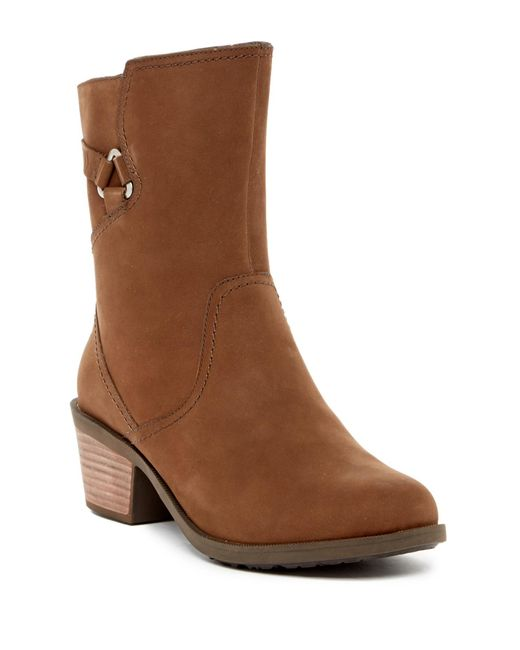 Teva - Brown Foxy Mid-calf Leather Boot - Lyst