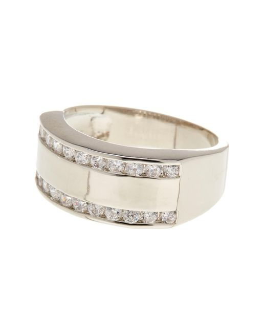 Ariella Collection   Metallic Metal And Crystal Band Ring   Lyst