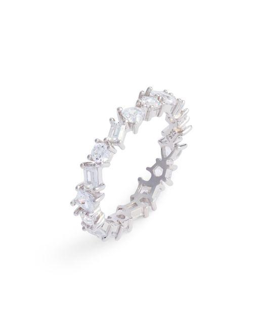 Nordstrom - Metallic Cubic Zirconia Eternity Ring - Lyst