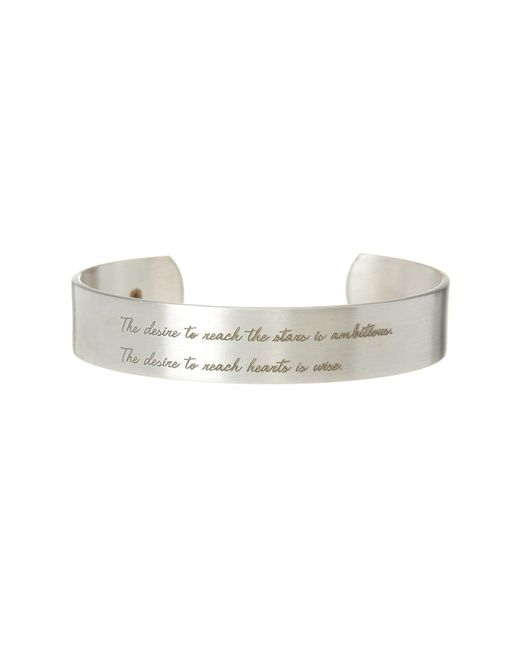 Dogeared - Metallic Maya Angelou The Desire Cuff Bracelet - Lyst