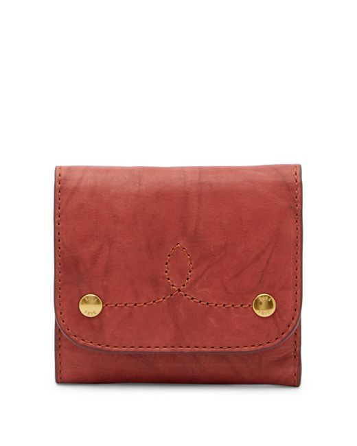 Frye - Red Campus Rivet Medium Wallet - Lyst