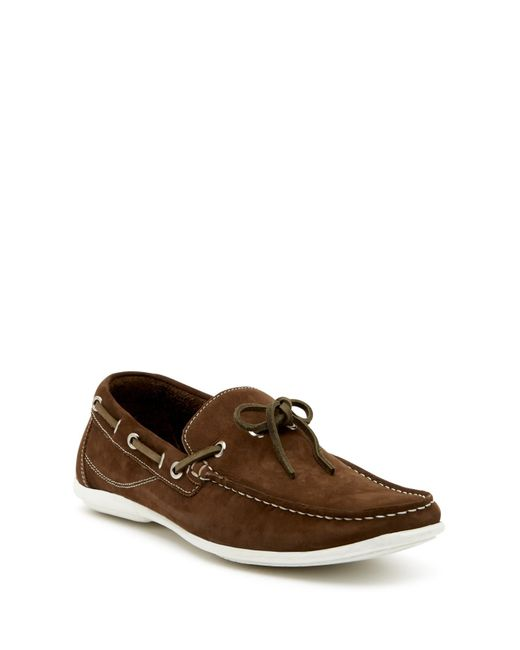 Gordon Rush - Green Tie Leather Boat Shoe for Men - Lyst