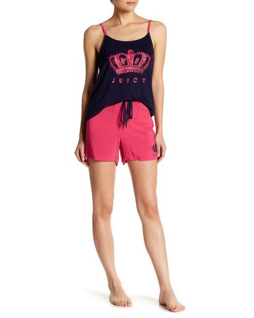 Juicy Couture - Pink Pajama Tank Top & Shorts 2-piece Set - Lyst