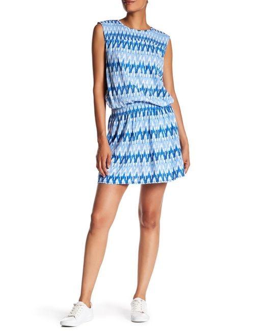 Soft Joie - Blue Kurumi Printed Smock Dress - Lyst