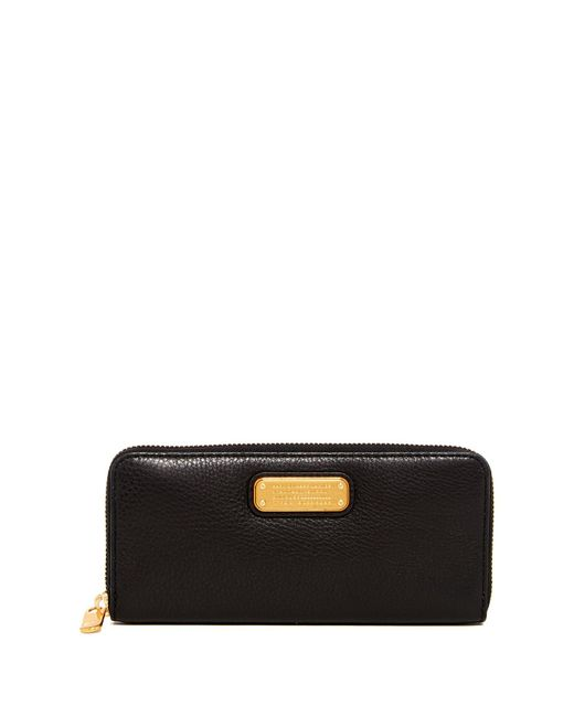 Marc Jacobs - Black New Q Slim Zip Continental Leather Wallet - Lyst