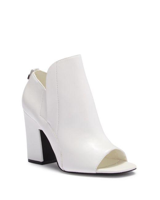 Calvin Klein - White Remy Open Toe Block Bootie - Lyst