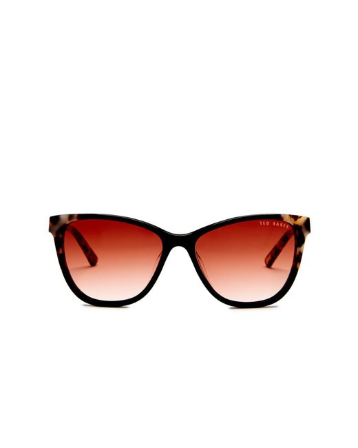 Ted Baker | Black Women's Full Rim Cat Eye Sunglasses | Lyst