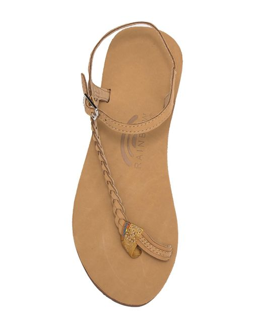 2561704b2 ... Rainbow Sandals - Brown Marley Side Braid Ankle Strap Sandals - Lyst ...