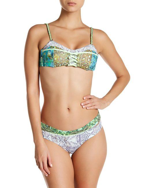 Maaji   Green Key Lime Ride Chi Chi Cut Reversible Bikini Bottom   Lyst