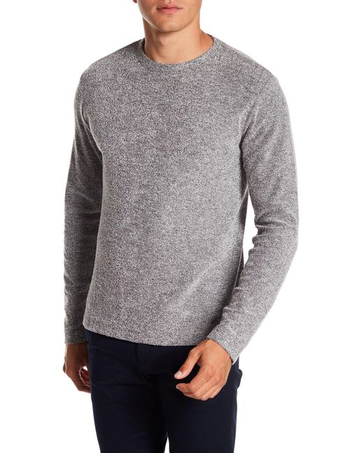 Theory - Gray Long Sleeve Carbon Box Tee for Men - Lyst