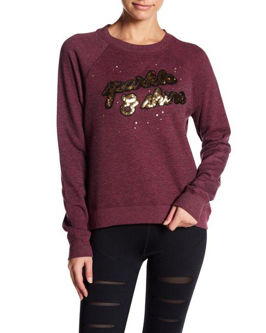 Betsey Johnson   Purple Sparkle & Shine Sequin Pullover   Lyst