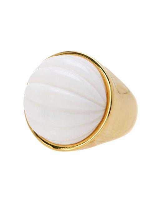 Trina Turk   Metallic Beveled Cabochon Resin Detail Ring - Size 7   Lyst