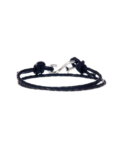 Link Up - Black Braided Leather Wraparound S-hook Bracelet for Men - Lyst