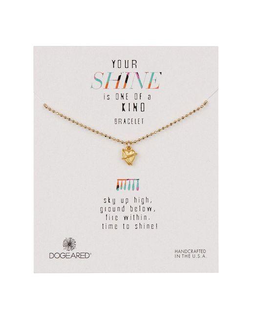 Dogeared - Metallic 14k Gold Vermeil Your Shine Wrapped Heart Bracelet - Lyst