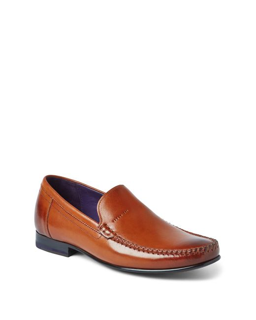 Ted Baker Brown Simeen 3 Leather Slip-on Loafer for men