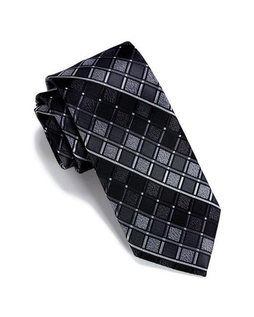 Perry Ellis - Black Rossi Geo Pattern Tie for Men - Lyst
