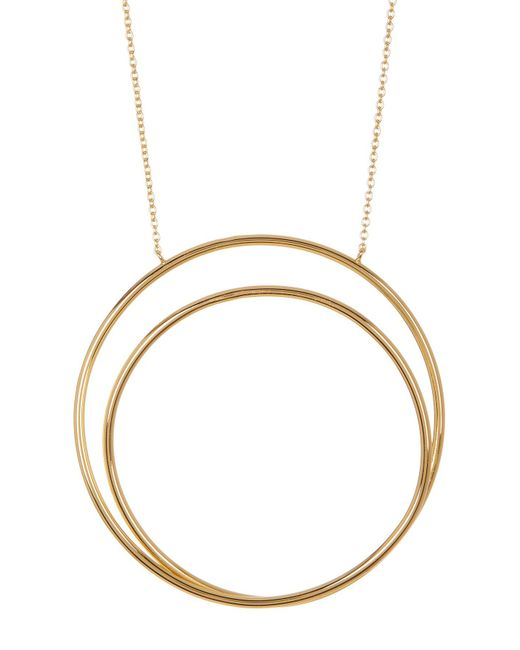 Argento Vivo - Metallic 18k Gold Plated All Around The World Pendant Necklace - Lyst