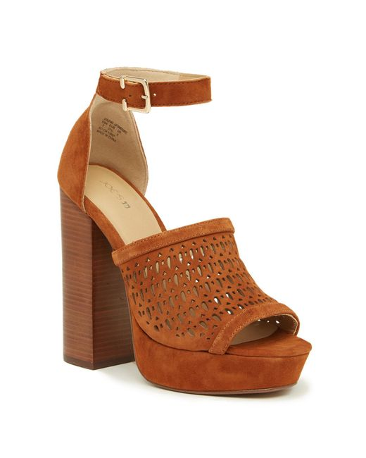 Joe's Jeans - Brown Lorne Perforated Platform Sandal - Lyst