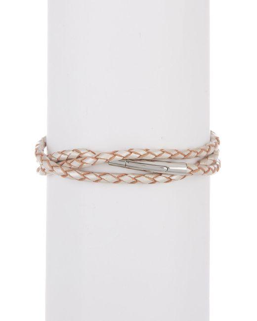 Simon Sebbag - Metallic Sterling Silver & Leather Bamboo Shaped Station Wrap Bracelet - Lyst
