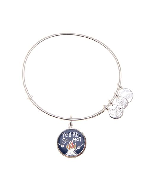 ALEX AND ANI - Metallic You're So Hot Words Are Powerful Expandable Wire Charm Bracelet - Lyst