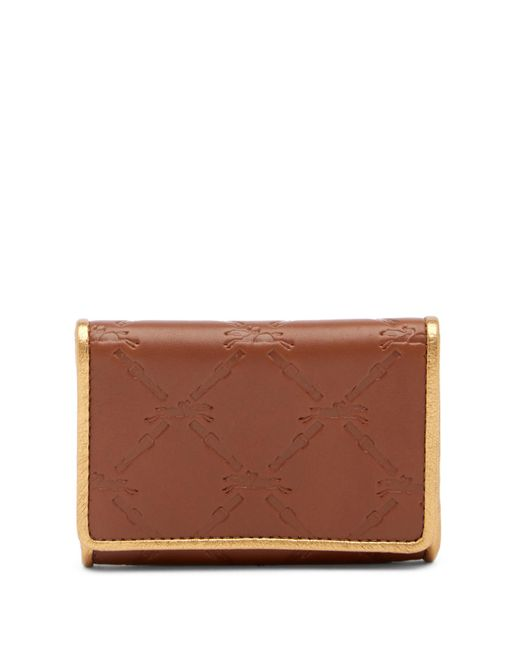 Longchamp - Brown Small Leather Wallet - Lyst