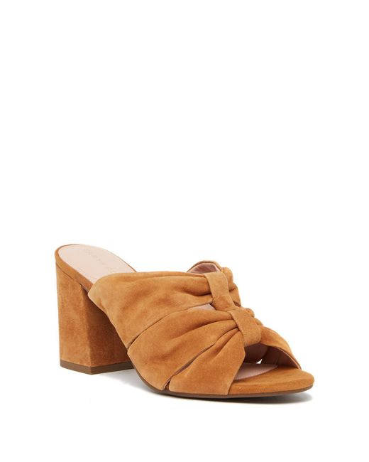 Taryn Rose - Brown Lana Suede Heeled Sandal - Lyst