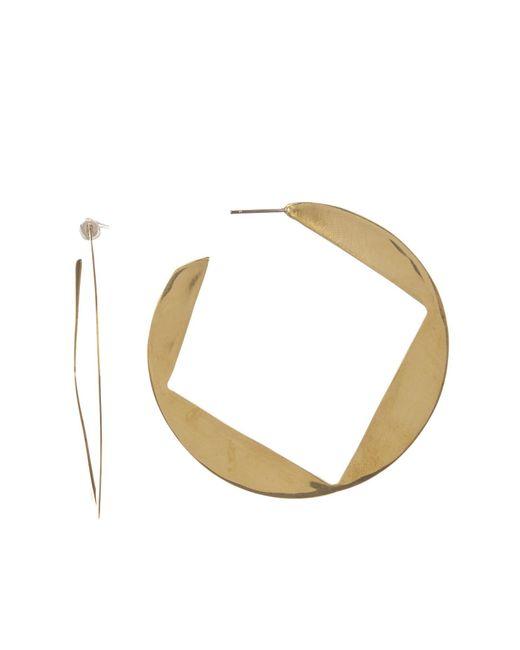 Soko - Metallic Soft Geo Hoop Earrings - Lyst