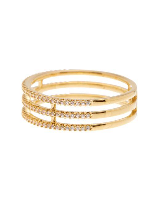 Nadri | Metallic A-sale Triple Row Cz Ring - Size 8 | Lyst