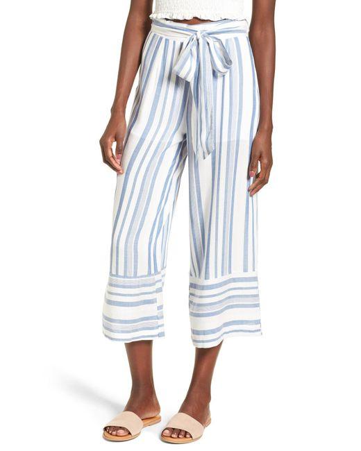 Lost + Wander - Blue Marina Wide Leg Pants - Lyst