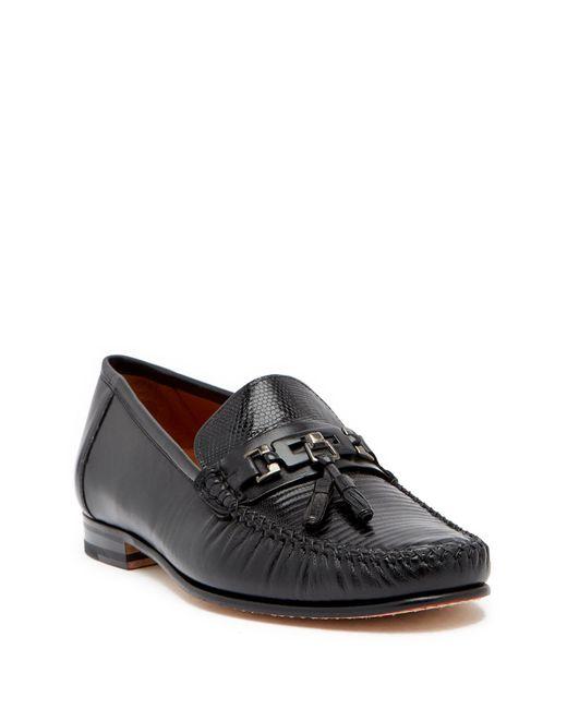 Mezlan - Black Cafaro Genuine Lizard Tassel Loafer for Men - Lyst