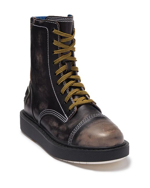 DIESEL Black Cage D Ankle Boot for men