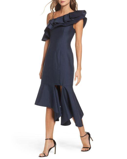 Keepsake - Blue Night Lights Midi Dress - Lyst