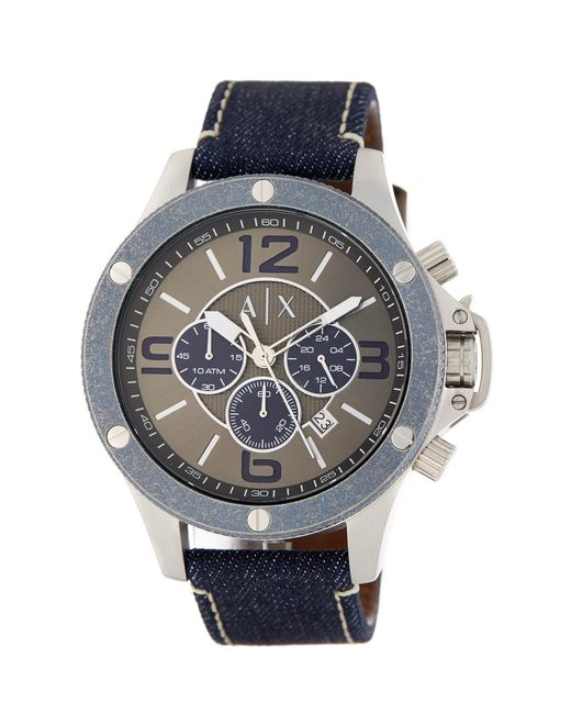 Armani Exchange | Multicolor Men's Chronograph Denim Watch for Men | Lyst