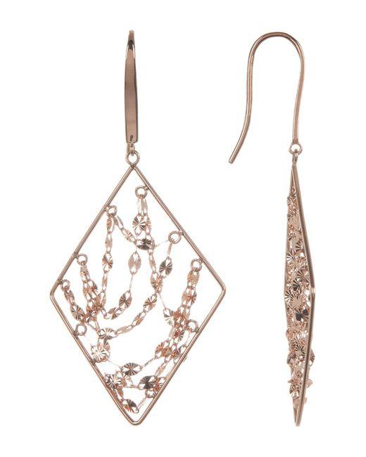 Lana Jewelry - Metallic 14k Rose Gold Diamond Webbed Earrings - Lyst