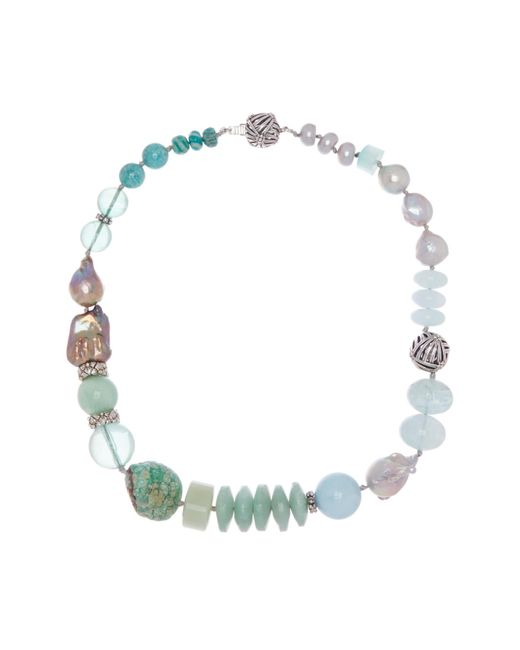 Stephen Dweck - Metallic Sterling Silver Champagne Pearl & Mixed Stone Long Strand Necklace - Lyst