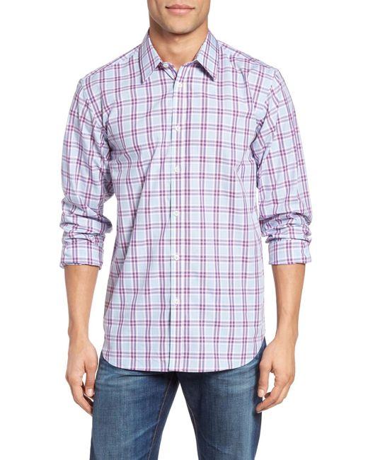 Jeremy Argyle Nyc | Blue Plaid Sport Shirt for Men | Lyst