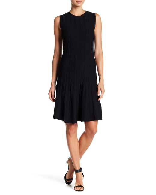 Joe Fresh - Black Fit & Flare Ribbed Dress - Lyst