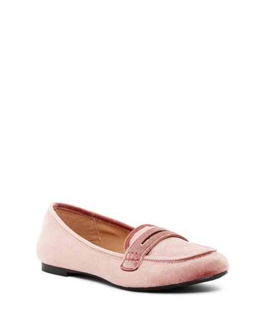 Madden Girl | Pink Penniee Velvet Slip-on Flat | Lyst
