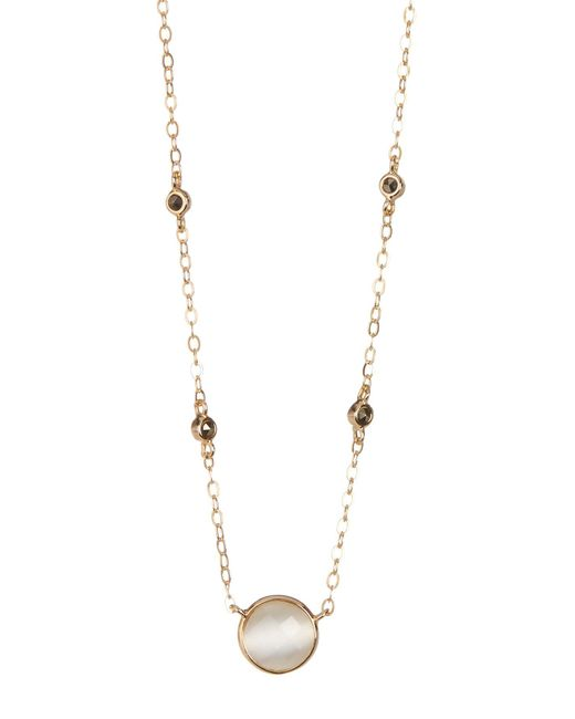 Judith Jack - Metallic Gold Plated Sterling Silver Round Cut White Crystal Pendant Necklace - Lyst