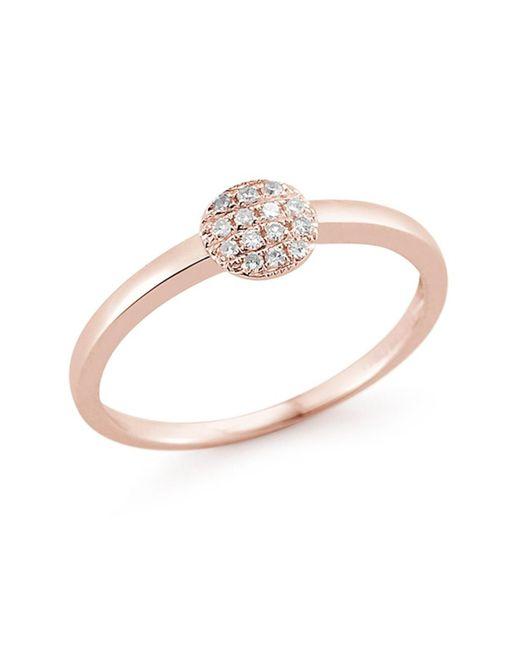 Dana Rebecca - Metallic 14k Rose Gold Diamond Lauren Joy Mini Ring - 0.08 Ctw - Lyst