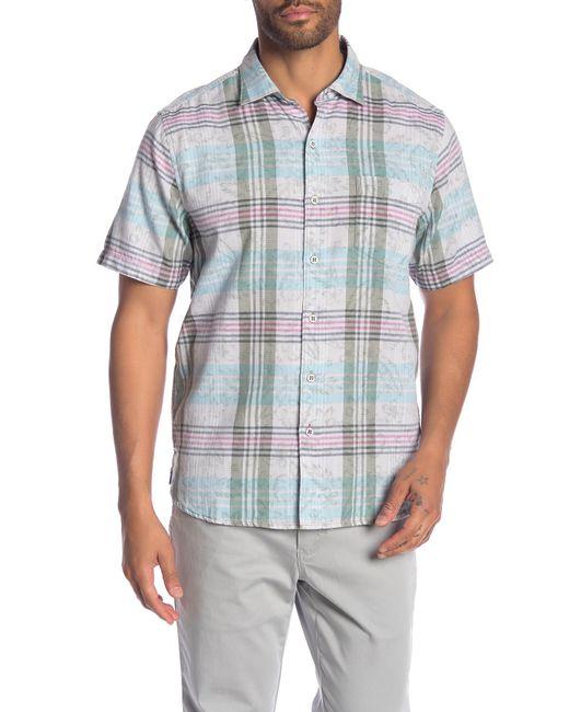 Tommy Bahama - Blue Zuma Plaid Short Sleeve Shirt for Men - Lyst