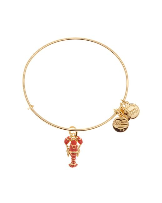 ALEX AND ANI - Metallic Clear Infusion Lobster Charm Bracelet - Lyst