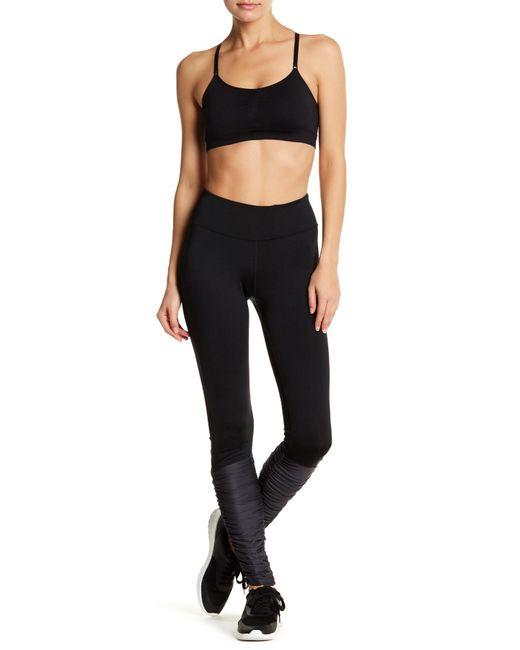 Fila | Black Ruched Colorblock Long Legging | Lyst