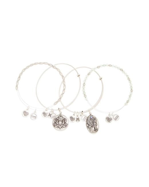 ALEX AND ANI | Metallic Lotus Peace Petals Beaded Extendable Wire Bangles - Set Of 4 | Lyst
