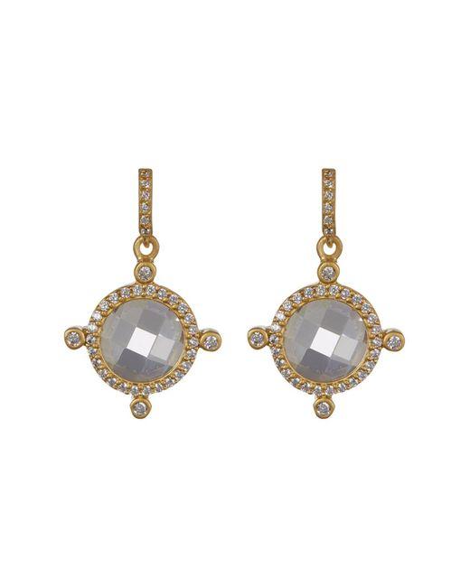 Freida Rothman - Multicolor 14k Gold Plated Sterling Silver Femme Cz Drop Earrings - Lyst